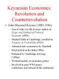 Keynesian Economics: Revolution and Counterrevolution PowerPoint PPT Presentation