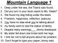 Mountain Language 1 PowerPoint PPT Presentation