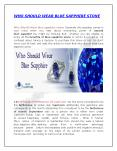 Who Should Wear Blue Sapphire Stone PowerPoint PPT Presentation