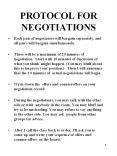 PROTOCOL FOR NEGOTIATIONS PowerPoint PPT Presentation