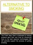 Alternative To Smoking PowerPoint PPT Presentation