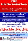 FREE Cycle Ride Leaders Course  Saturday 12th PowerPoint PPT Presentation