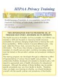 HIPAA Privacy Training PowerPoint PPT Presentation
