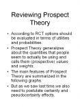 Reviewing Prospect Theory PowerPoint PPT Presentation