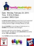 St. Michael Catholic Academy and the School Council welcome all children and their parents to the school gym for the annual numeracy Family Fun Night on Monday, February 23, 2015! PowerPoint PPT Presentation
