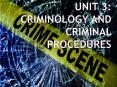 Unit 3: Criminology and Criminal Procedures PowerPoint PPT Presentation