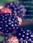 Reflect a pinch of Blackberry with some Peach in your Wedding! PowerPoint PPT Presentation