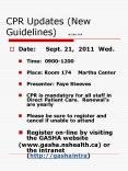 CPR Updates (New Guidelines)  SE-2011-070 PowerPoint PPT Presentation