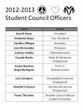 2012-2013 Student Council Officers PowerPoint PPT Presentation