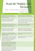 PLAN DE TRAVAIL CM1 P PowerPoint PPT Presentation