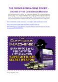 The Commission Machine   review-The Commission Machine   (MEGA) $21,400 bonus PowerPoint PPT Presentation