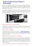 Home Theatre Systems in Burlington, Milton and Mississauga PowerPoint PPT Presentation