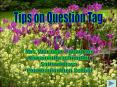 Tips on Question Tag PowerPoint PPT Presentation