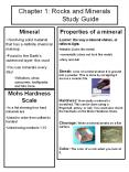 Chapter 1: Rocks and Minerals                    Study Guide PowerPoint PPT Presentation