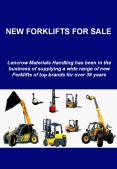 New Forklifts for Sale in Australia from Lencrow