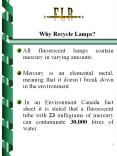 Why Recycle Lamps? PowerPoint PPT Presentation