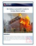 Smoke Alarm Safety Tips By Mr. Rekey Locksmith PowerPoint PPT Presentation