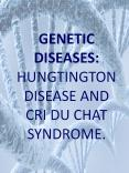 GENETIC DISEASES: HUNGTINGTON DISEASE AND CRI DU CHAT SYNDROME. PowerPoint PPT Presentation