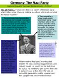 Germany: The Nazi Party PowerPoint PPT Presentation