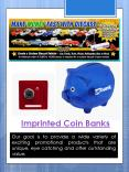 Imprinted Coin Banks PowerPoint PPT Presentation