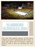Warriors Tickets PowerPoint PPT Presentation