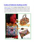 Fashion of Multicolor Handbags In 2016 PowerPoint PPT Presentation
