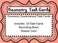 Geometry Task Cards PowerPoint PPT Presentation