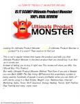 Ultimate Product Monster review, Does it really work PowerPoint PPT Presentation