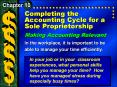 Completing the Accounting Cycle for a Sole Proprietorship PowerPoint PPT Presentation