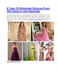 6 Type Of Wholesale Dresses Every Girl Needs In Her Wardrobe PowerPoint PPT Presentation