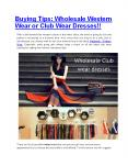 Buying tips: Wholesale western Wear or Club wear dresses!!