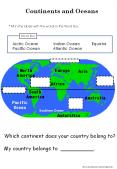 Continents and Oceans PowerPoint PPT Presentation