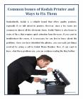 Common Issues of Kodak Printer and Ways to Fix Them PowerPoint PPT Presentation