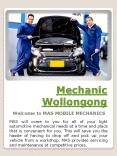 Mobile Mechanic PowerPoint PPT Presentation
