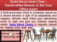 Solid Wood Desk Chair - Handcrafted Beauty to Set Your Office Apart PowerPoint PPT Presentation