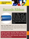 Thermal transfer ribbon PowerPoint PPT Presentation