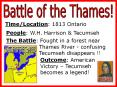 Battle of the Thames! PowerPoint PPT Presentation