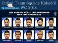 Indian Team Squads Kabaddi WC 2016 PowerPoint PPT Presentation