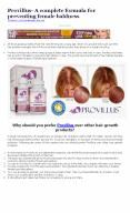 Provillus- A complete formula for preventing female baldness PowerPoint PPT Presentation
