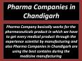 Pharma Companies in Chandigarh (1) PowerPoint PPT Presentation