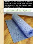 Underlay For Laminate Flooring PowerPoint PPT Presentation