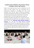 Complete Guide of 300 Hours Yoga Teacher Training in Rishikesh: Divine Yoga Academy PowerPoint PPT Presentation