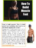 Build Muscle Fast PowerPoint PPT Presentation