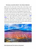 Pink lakes around the World – Rare Natural Wonders PowerPoint PPT Presentation