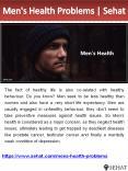 Men's Health Problems   Sehat PowerPoint PPT Presentation