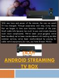 Android Tv Streaming Box Reviews PowerPoint PPT Presentation