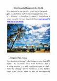Most Beautiful Beaches in the World PowerPoint PPT Presentation