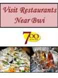 Visit Restaurants Near Bwi PowerPoint PPT Presentation