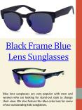 Blue Lens Aviator Sunglasses PowerPoint PPT Presentation