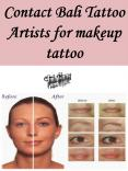 Contact Bali Tattoo Artists for makeup tattoo PowerPoint PPT Presentation